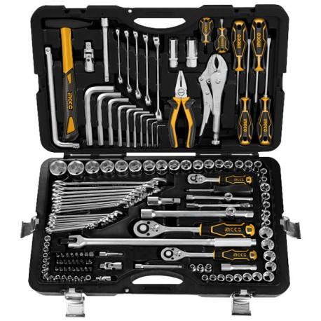 Caja herramientas 142 piezas INGCO