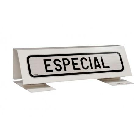 Placa transporte especial metalica